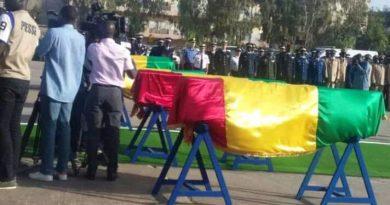 Levée du corps des 4 gendarmes: La Caserne Samba Dièry Diallo rend hommage à ses braves soldats