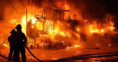 Vidéo: Grave incendie du marché central de Tamba