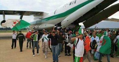 Finale du 19 avril: L'Algérie déplace 28 et 4000 supporters supplémentaires au Caire